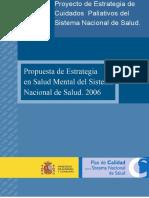 Propuesta de estrategia en salud mental del sistema nacional de salud 2006