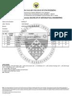 Exam Result Sheet Dsce