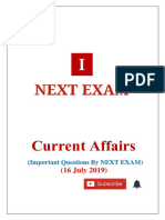 16 July 2019 Current Affairs by NEXT EXAM