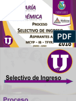Platica Informativa Semestre de Ingreso 2018