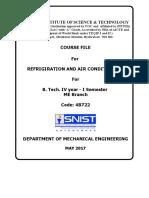 r&Ac Course File