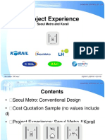 Project Experience Metro & Rail