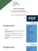 EACH - Aula 1 e 2 DA e DOA- Princípios Administrativos (1)