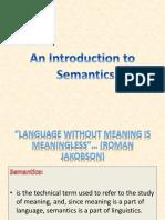 Introduction to Semantics