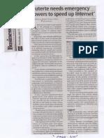 Business Mirror, July 17, 2019, Duterte needs emergency powers to speed up internet.pdf