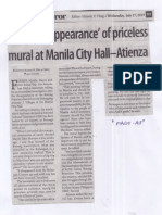Business Mirror, July 17, 2019, Probe disappearance of priceless mural at Manila City Hall-Atienza.pdf