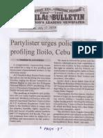 Manila Bulletin, July 17, 2019, Partylister urges police Stop profiling Iloilo, Cebu teachers.pdf