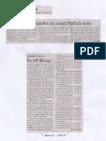 Manila Times, Ex-VP Binay seeks to void Penas win.pdf