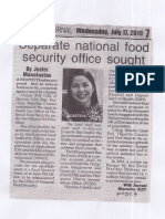 Peoples Journal, July 17, 2019, Separate national food security office sought.pdf