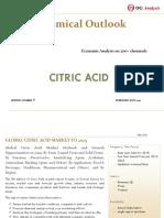 OGA_Chemical Series_Citric Acid Market Outlook 2019-2025
