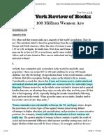100 Million Women are Missing Amartya Sen