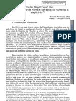 SILVA, M. M. Como ler Hegel Hoje..., 2007. [Manuel Moreira da Silva, Diadochus Speculativus].
