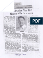 Philippine Star, July 17, 2019, Lawmaker files 101 House bills in a week.pdf