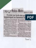 Police Metro, July 17, 2019, 3 araw na lock-out policy ipapatupad sa Batasan Complex.pdf