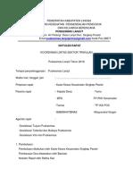 Contoh Notulen Sosialisasi Tata Nilai,Tujuan Dan Visi-misi Pkm