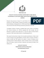 TIB Corp Public Notice