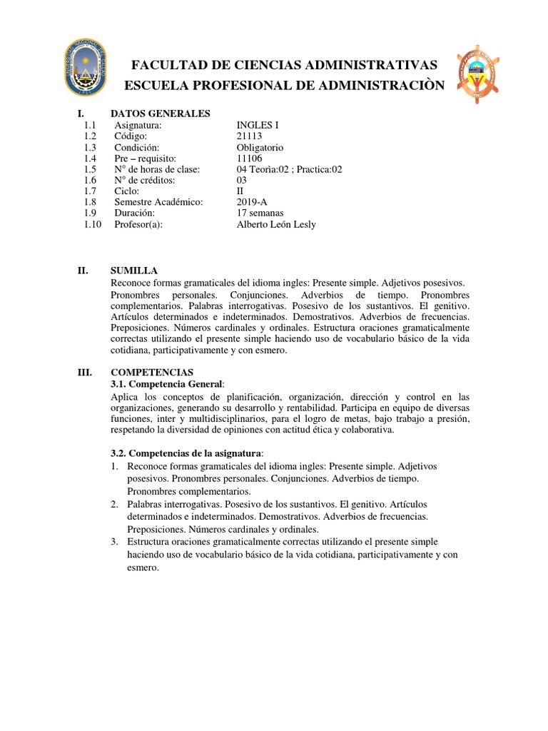Silabus Docx Evaluación Prueba Evaluación