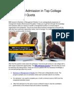 BMS Direct Admission in Top College Through NRI Quota PDF