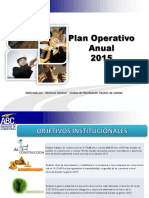 Programa de Operaciones Anual 2015