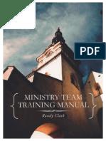 Manual de Entrenamiento de Equipo Ministerial - Randy Clark