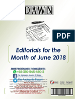 Monthly Dawn Editorials June 2018 Final