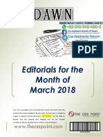 Monthly DAWN Editorials March 2018 Final