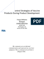 Analytical Control Strategies of Vaccine