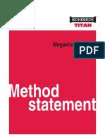 Ischebeck USA Method Statement Megashore