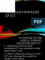 The Disadvantages of Ict