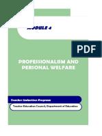 Module 4 Professionalism and Personal Welfare.pdf