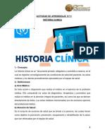 ACTIVIDAD DE APRENDIZAJE  N°11 DOCUMENTACION EN SALUD- 2019