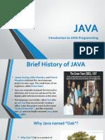 Intro to JAVA,Python