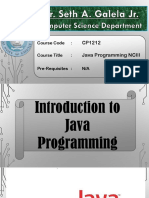 Lesson 2 - Introduction to Java