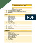 Plant Design Schedule