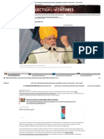 Exit Poll 2019 India Latest_ Exit Polls Predict Another Huge Modi Win, Forecast 277-352 for NDA _ - Times of India
