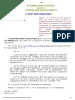 Lei 13127 Planalto Central