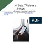 IOS 12.4 Beta 7 Release Notes