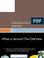 Unit 1 Introduction to Services