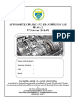 Automobile Chassis Transmission Lab