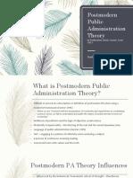 Postmodern Theory PA301