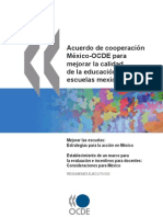 Acuerdo Mexico-ocde sobre Educación