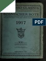Bosanski glasnik 1917. godine -Bosnischer Bote 1917