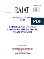 235 Separation of Iron Losses in 3 Ph Transformer (1)