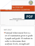 NAT Test Admin Guidelines for Orientation