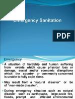 Emergency Sanitation-Sanitary Inspectors