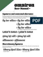 Aromatron User Manual