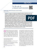 Factors related to the rate of orthodontic tooth movement