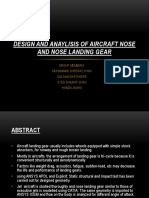 Design and Anaylisis of Aircraft Nose and Nose
