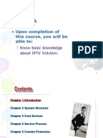 Basic Training on IPTV Solution Summary