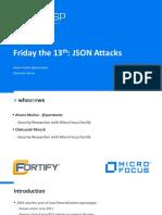 Owasp Appsecusa Json Attacks